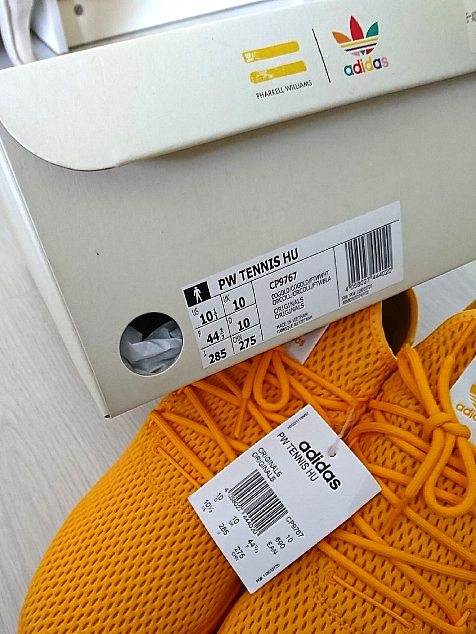 f2bedfe170526 Pharrell x Adidas Tennis HU solid pack yellow
