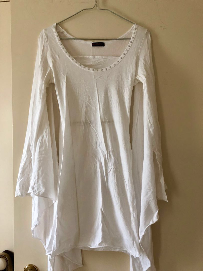 REVERSE | White Cape Dress