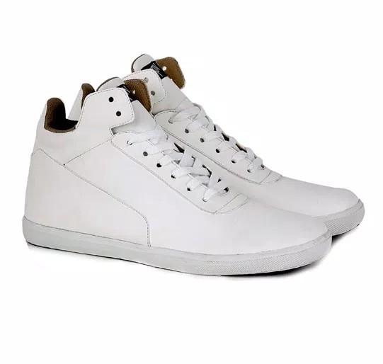 Sepatu pria kulit putih cowok sneakers semi boots CASUAL a3f673bd0f