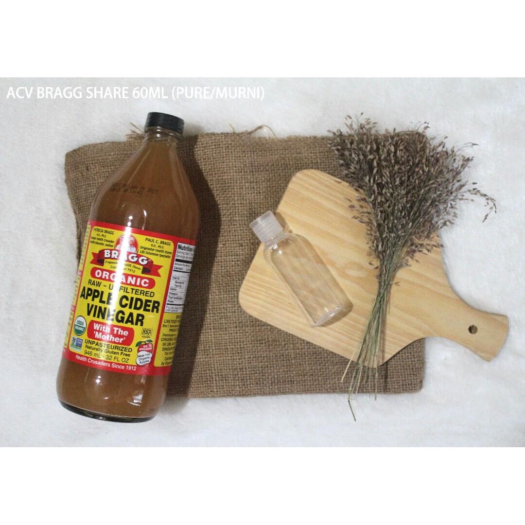 (SHARE 60ml) PURE/MURNI Cuka Apel/Apple Cider Vinegar (ACV), Kesehatan & Kecantikan, Kulit, Sabun & Tubuh di Carousell