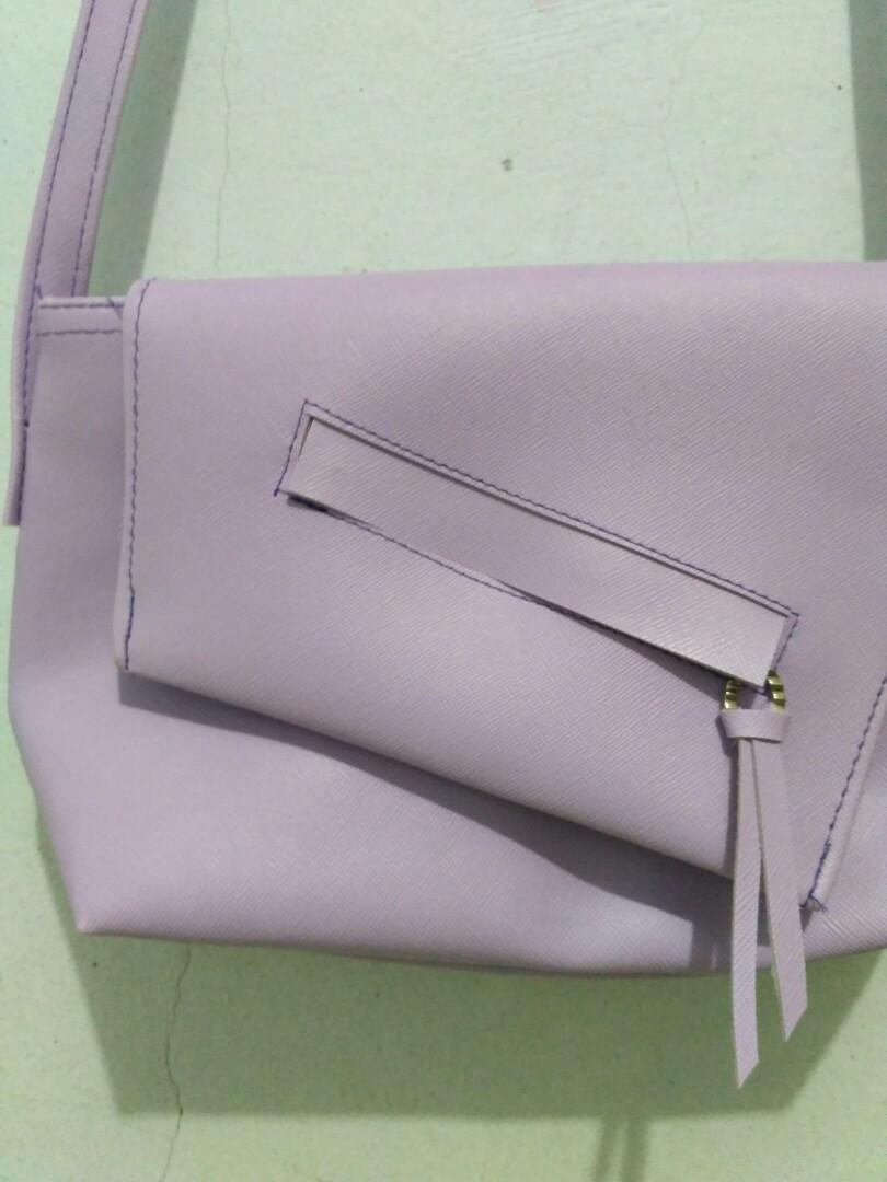 Soft purple bag