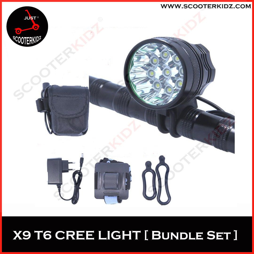 db4f1eb90ef UltraFire X9 T6 LED Light+ 13200mAh Battery CREE Triple T6 Bicycle  Headlight, Bicycles & PMDs, Personal Mobility Devices on Carousell