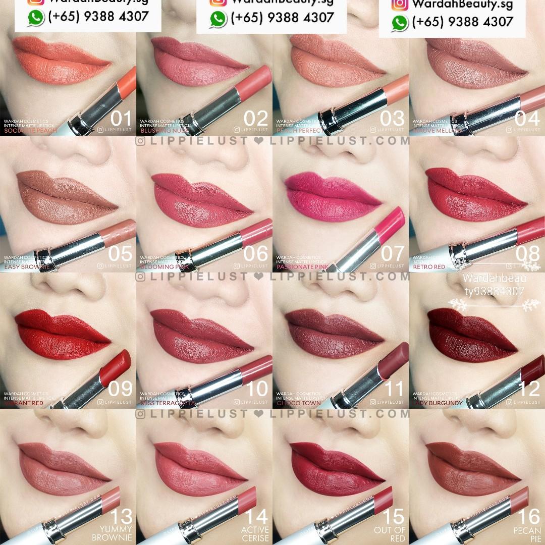 Wardah Lipstick Matte Intense Matte Lipstick 8 Nett Price Long