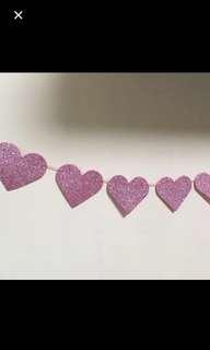 3m heart garland