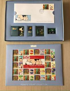 Snoopy 55years of Peanuts Stamp Collection 2005🇭🇰