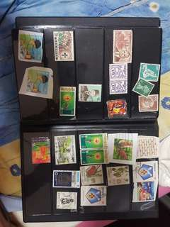 Book with stamps