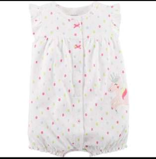 *9M & 18M* Brand New Carter's Snap Up Cotton Romper For Baby Girl