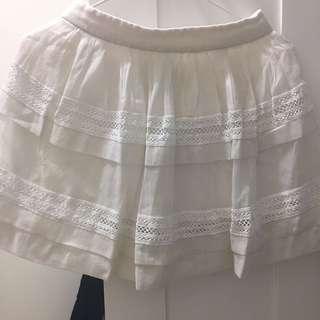 Snidel 白色半截裙 日牌
