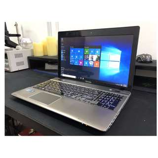"15"" Toshiba i7 Quad Core High End Gaming Laptop + 8GB Ram + 6GB Graphics !!"
