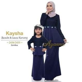 Dewasa & Budak Kaysha Beads & Lace Kurung Po