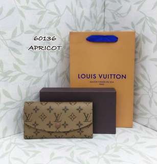 Louis Vuitton Emilie Wallet Reverse Monogram