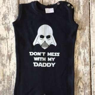 Newborn Baby Girls Boys Kids Star Wars Romper Bodysuit Jumpsuit Playsuit Outfits