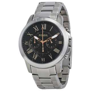 GRANT CHRONOGRAPH BLACK DIAL STAINLESS STEEL MEN'S WATCH FS4994