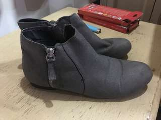 Lowcut Grey Boots