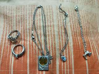 Bracelets and rings (Separate sell)