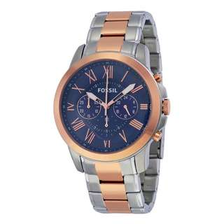 GRANT CHRONOGRAPH BLUE DIAL TWO-TONE MEN'S WATCH FS5024