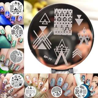 BORN PRETTY Lace Starfish Shell Nail Stamping Plate Negative Space Leaves Flowers Animals Nail Template 31 Designs Available