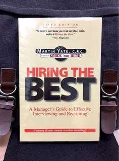 《Bran-New + Offers Managers & HR A Proven And Practical Approach In Recruiting Right Candidate》Martin Yate - HIRING THE BEST : A Manager's Guide to Effective Interviewing and Recruiting