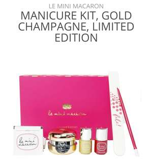 LE MINI MACARON | MANICURE KIT, GOLD CHAMPAGNE, LIMITED EDITION |