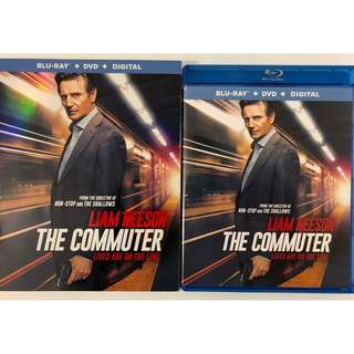 THE COMMUTER BLU RAY DVD 2 DISC SET + SLIPCOVER SLEEVE