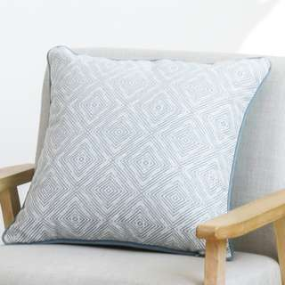 Blue Geometric Cushion Pillow 04