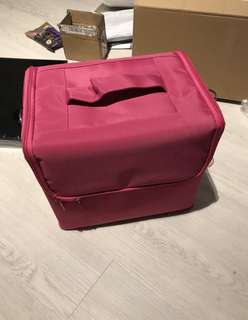 HOT PINK Professional 5 layer makeup box with sling