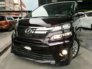 UNREGISTERED~ Toyota Vellfire 2.4 Golden Eyes ~ year 2013.