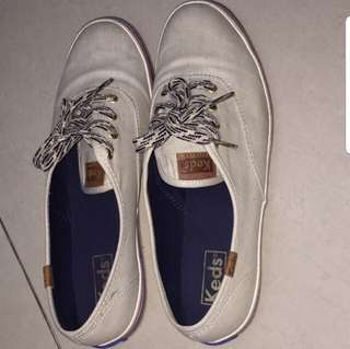 Authentic Keds Champion American Beige Blue Sneakers Size 8