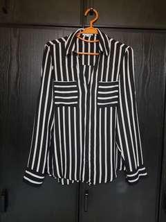 Express Monochromatic Striped Shirt