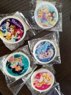 Disney princess rubbers (5 pieces for HK$22)