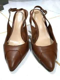 Sepatu Charles & Keith Original Dark Brown