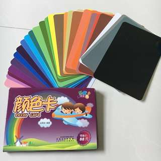 Colours flash cards (9/10) 30 cards