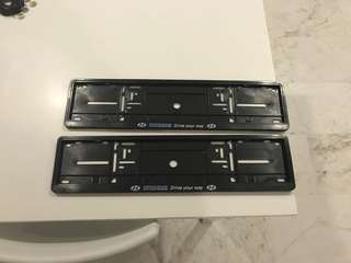 Hyundai number plate holder surround frame