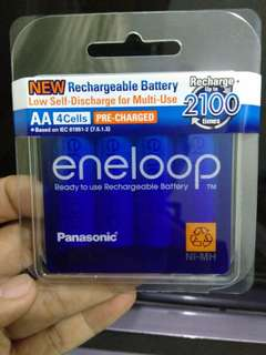 Eneloop Rechargeablm AA4 battery 2100mah