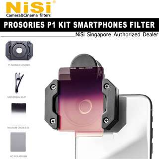 NiSi P1 Prosories Mobile Phone Filter Kit with Medium GND 8 (0.9) and HD Polariser