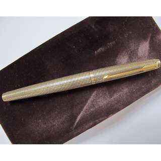 Parker 75 Ciselé Vermeil 1st Year Fountain Pen (Mint w.Box)