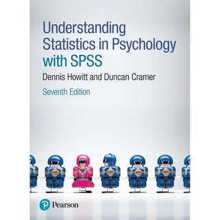 Understanding Statistics in Psychology with SPSS 7th Seventh Edition by Dennis Howitt, Duncan Cramer - Pearson
