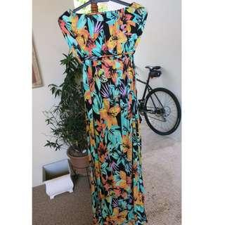 Miss Selfridge Floral Bandeau Maxi Dress