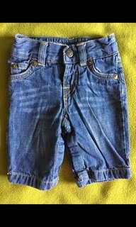 🚚 Baby Gap  牛仔褲含內襯  0-3個月  二手