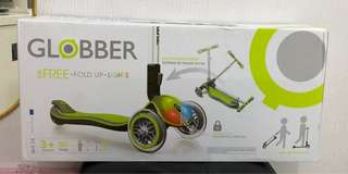 Globber Elite 3 Wheel Folding Adjustable Height Scooter 摺疊有燈全新美國滑板車