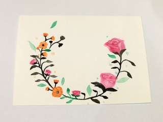 Watercolour Greeting Card / Mother day /Flower watercolour card/ birthday card / invitation card