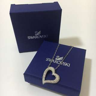 Swarovski 心型水晶頸鏈