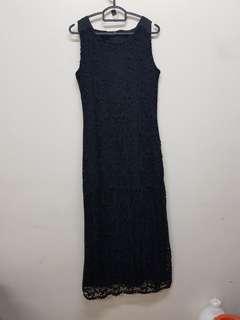 Rent-Black laze long dress