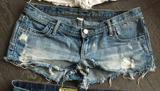 Abercrombie and Fitch Denim Jean Shorts Size 2
