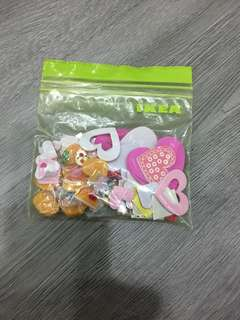 Packet of Sticker, beads