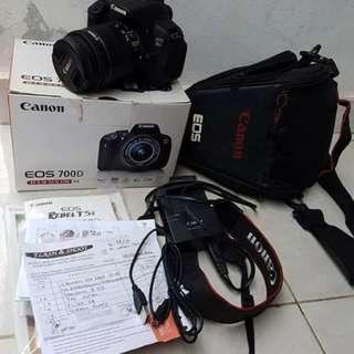 Jual kamera canon eos 700d kit