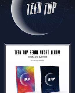 [Preorder] TEEN TOP 8th Mini Album-Seoul Night