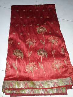 Saree with attached blouse  (stitched)