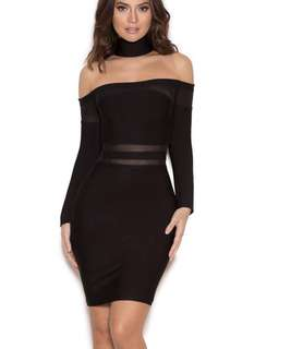 New House of Cb Black Bandage Dress
