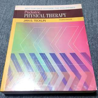 Pediatric Physical Therapy 4th edition